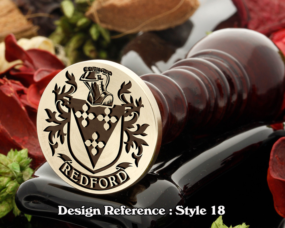 Redford Family Crest Wax Seal D18