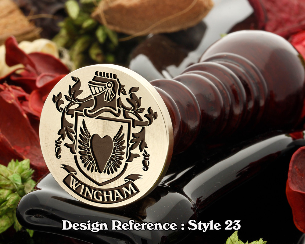 Wingham Family Crest Wax Seal D23
