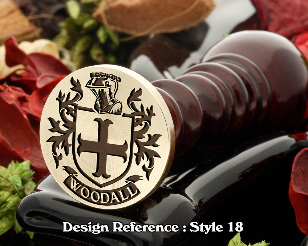 Woodall Family Crest Wax Seal D18