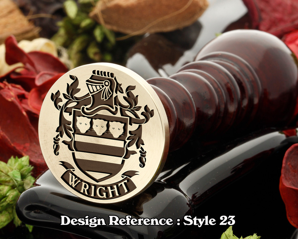 Wright Family Crest Wax Seal D23