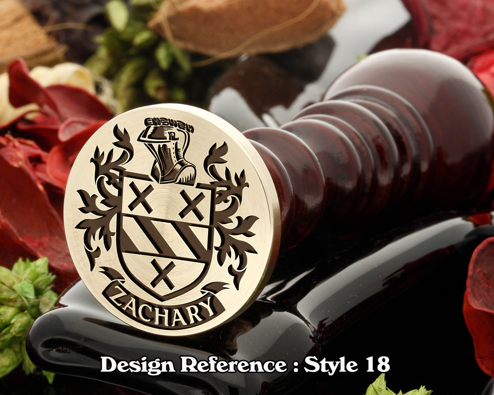 Zachary Family Crest Wax Seal D18