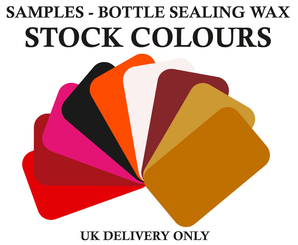 Samples Bottle Wax Stock Colours - UK DELIVERY ONLY