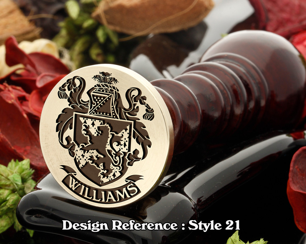 Williams Family Crest Wax Seal D21