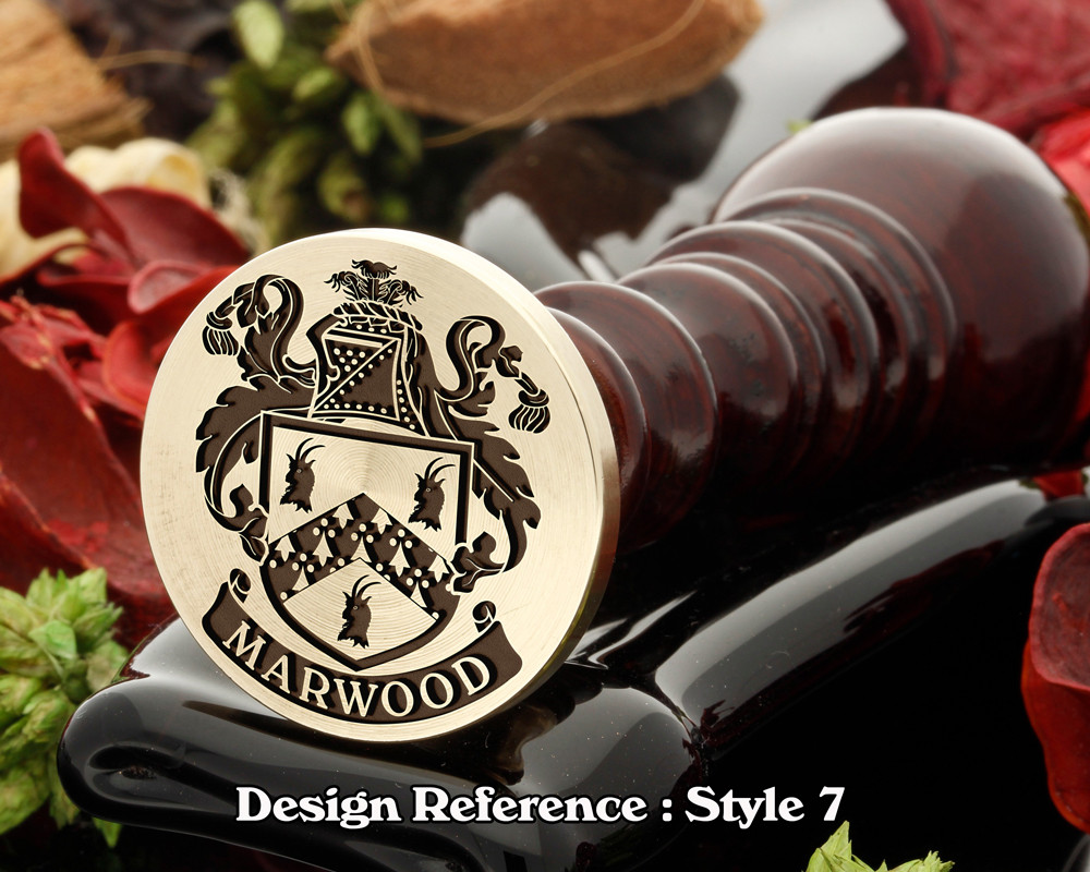 Marwood Family Crest Wax Seal D7