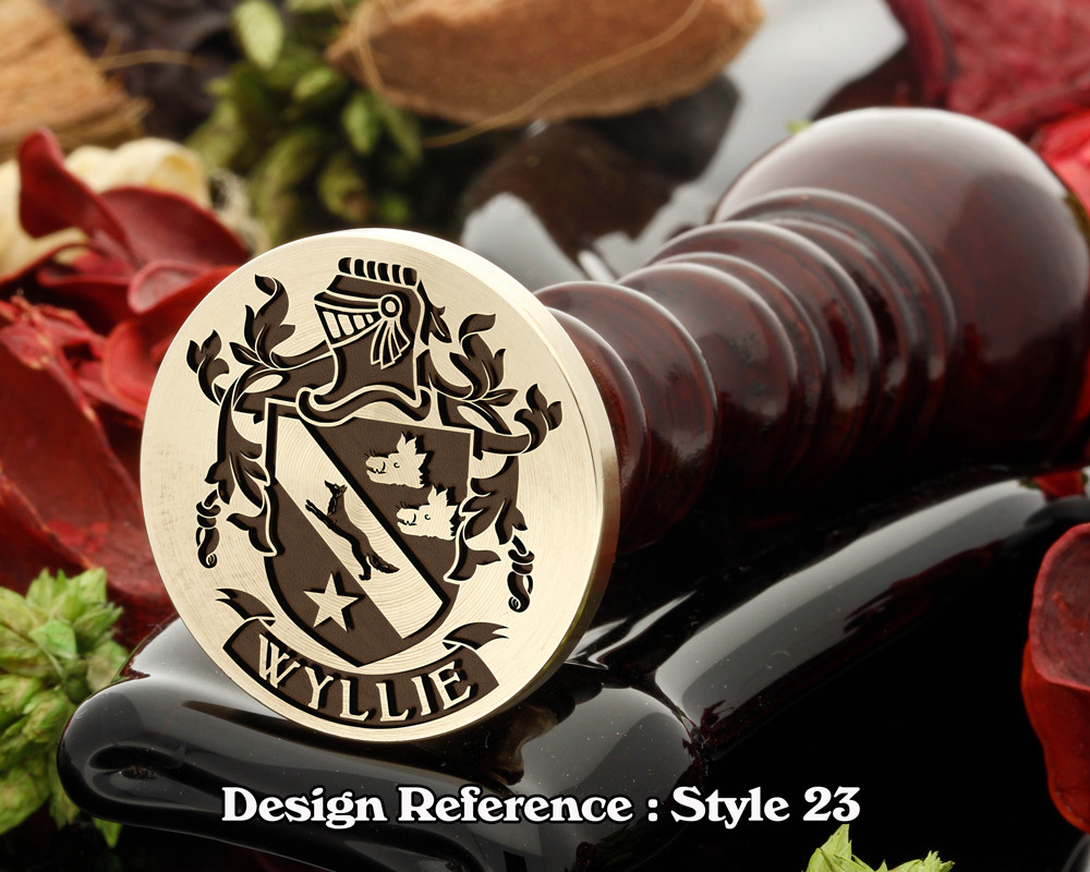 Wyllie Family Crest Wax Seal D23