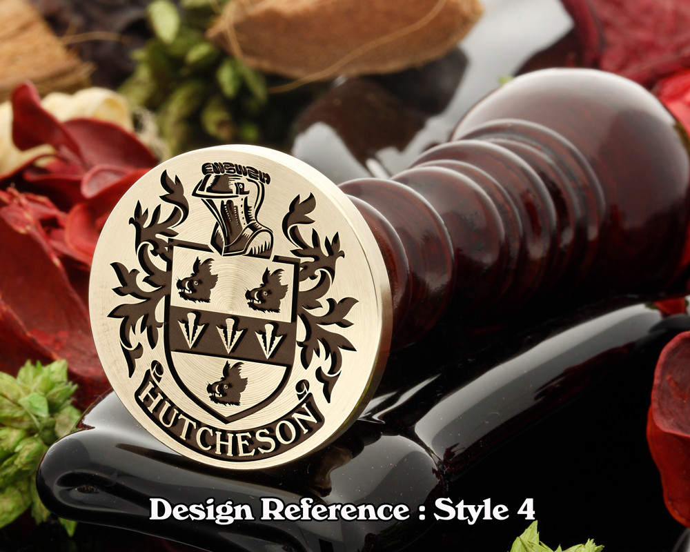 Hutcheson Family Crest Wax Seal D4