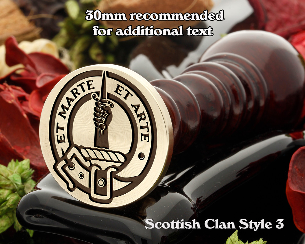 Bain Scottish Clan Wax Seal D3