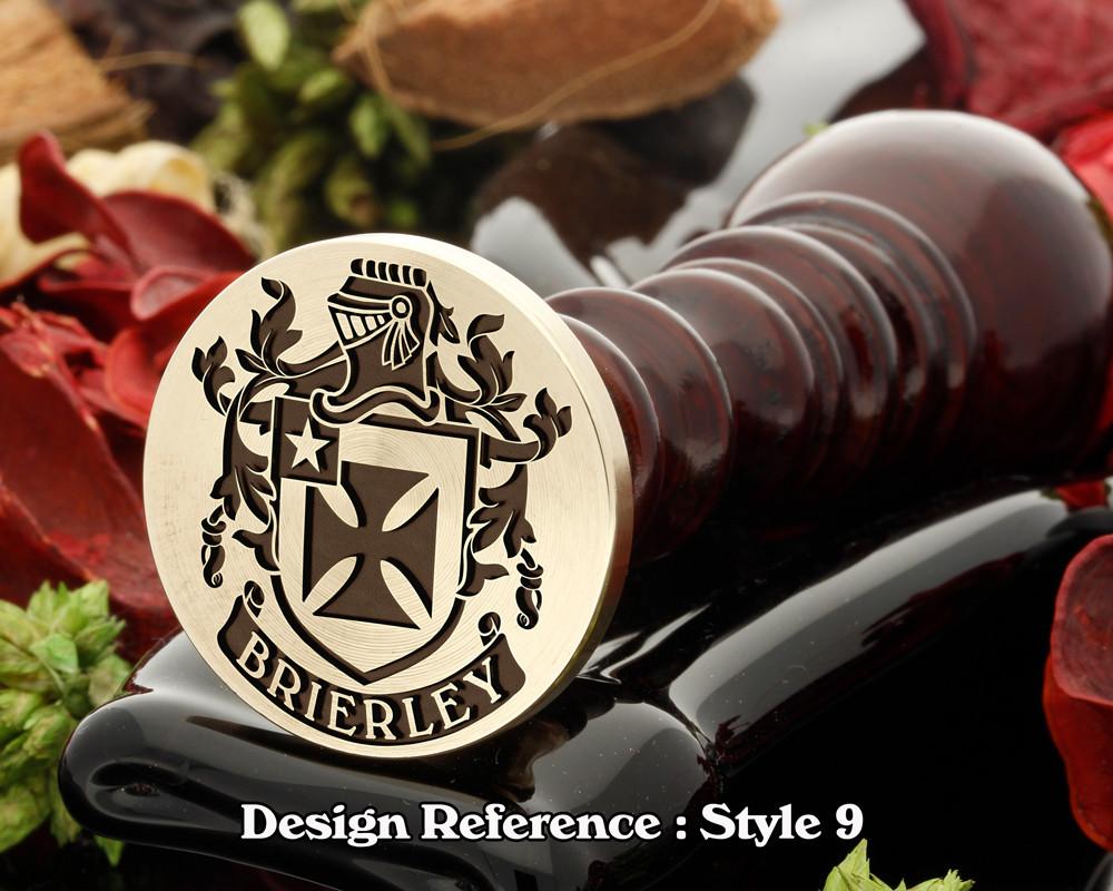 Brierley Family Crest Wax Seal D9