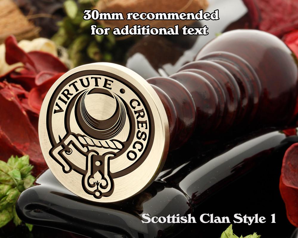 Leask Scottish Clan Wax Seal D1