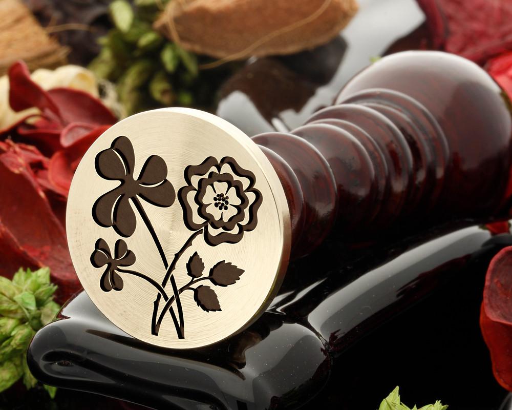 Shamrock and Rose Wax Seal Stamp