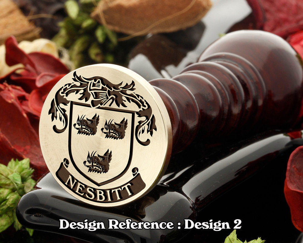 Nesbitt 1 Family Crest Wax Seal D2