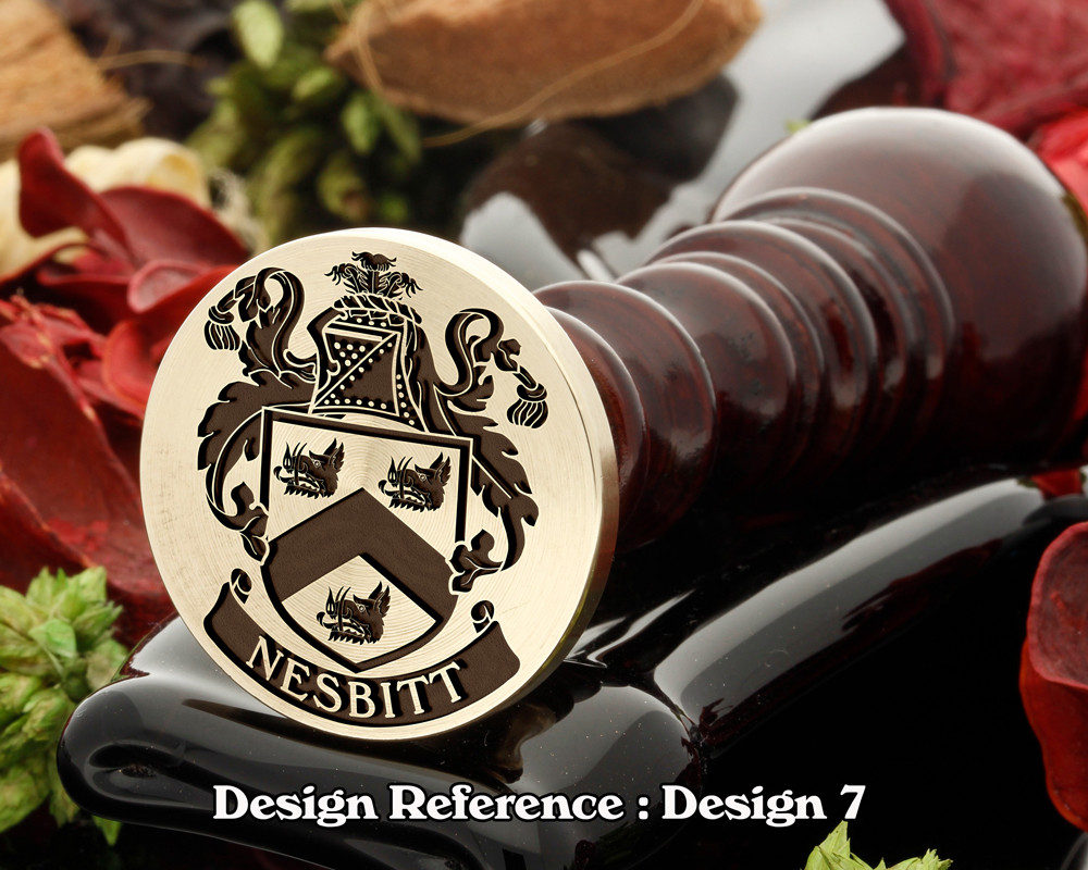 Nesbitt 2 Family Crest Wax Seal D7