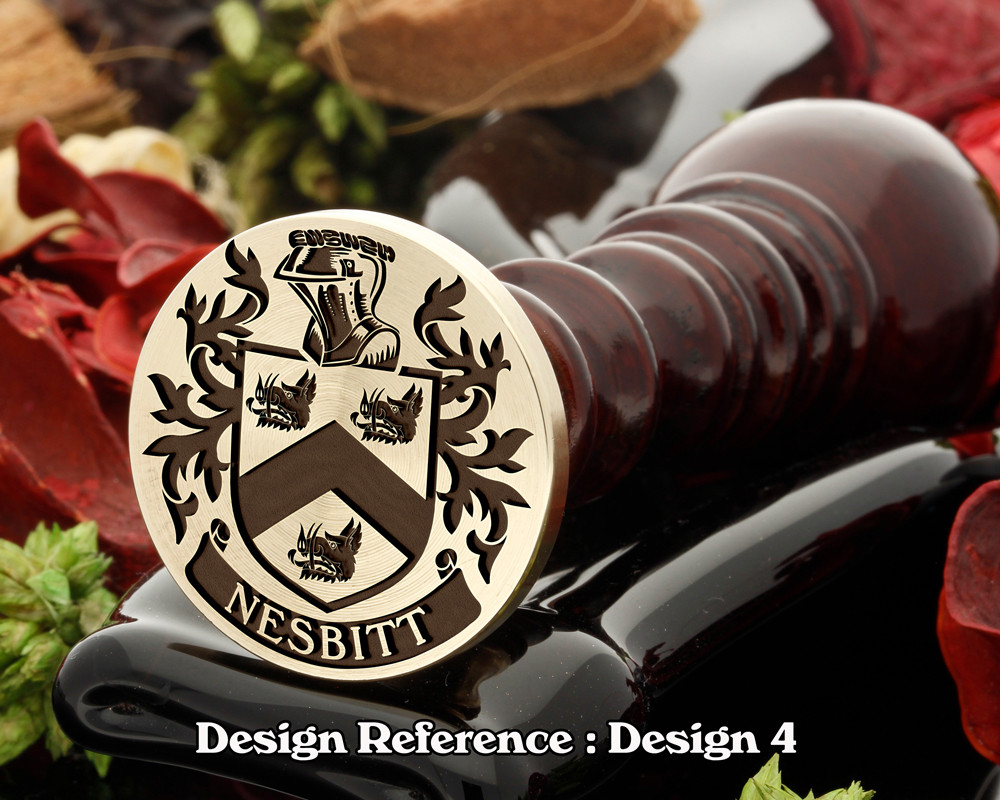Nesbitt 2 Family Crest Wax Seal D4
