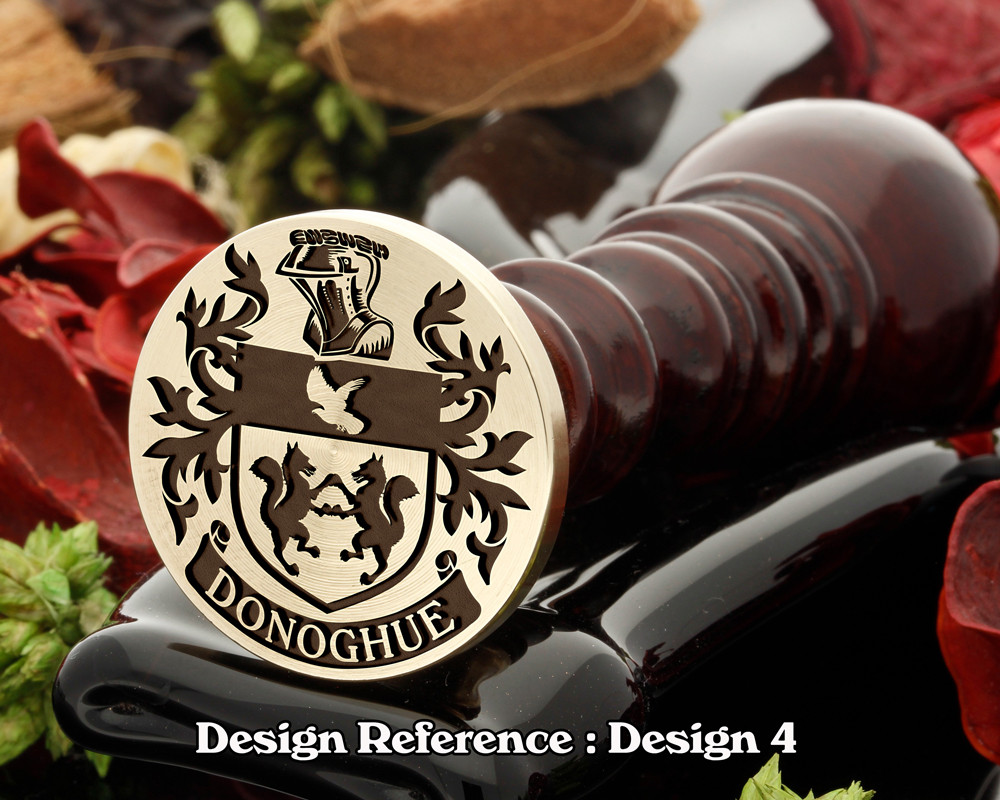 Donoghue Family Crest Wax Seal D4