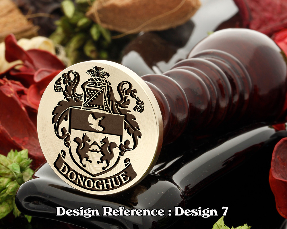 Donoghue Family Crest Wax Seal D7
