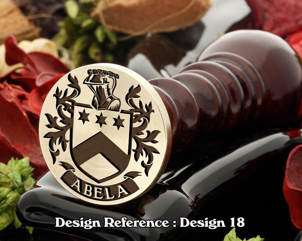 Abela Family Crest Wax Seal D18