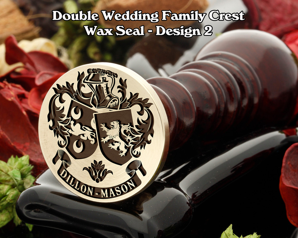 Double Wedding Family Crest Wax Seal D2
