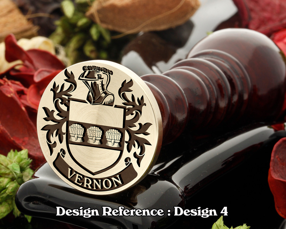 Vernon Family Crest Wax Seal D4