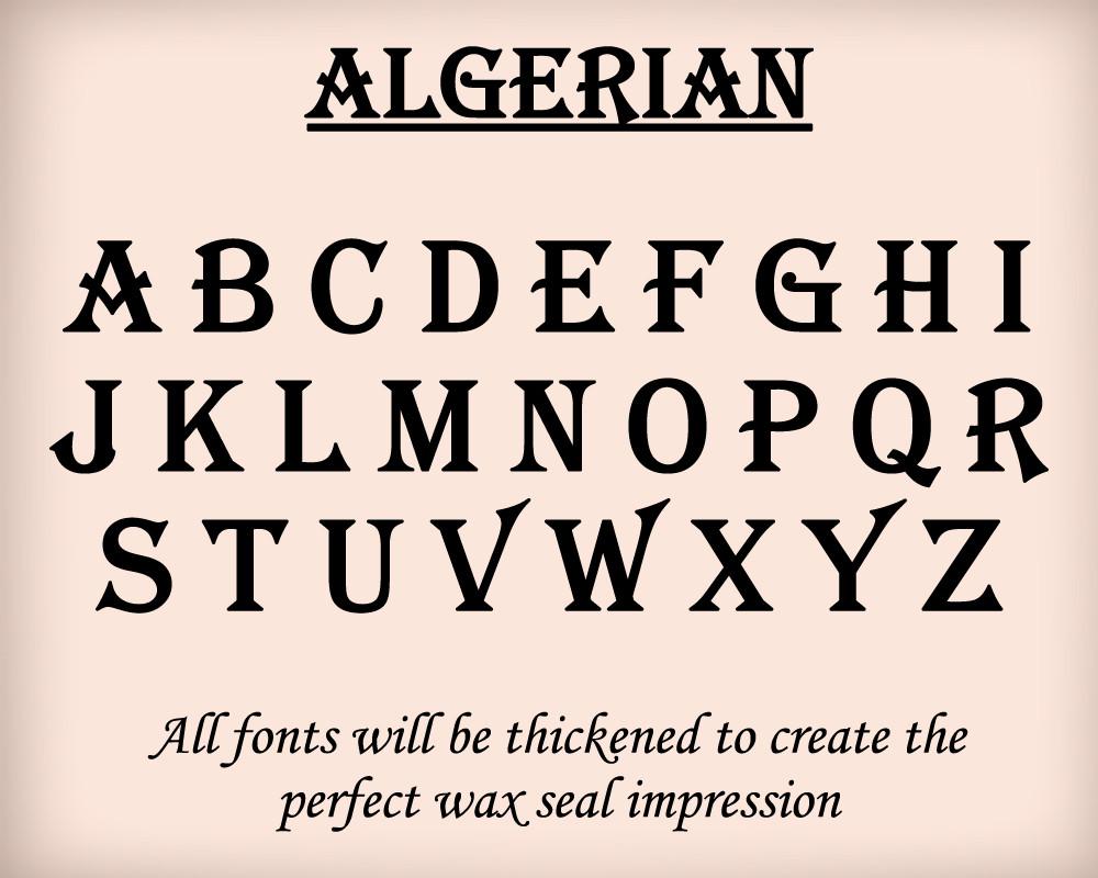 Algerian font examples