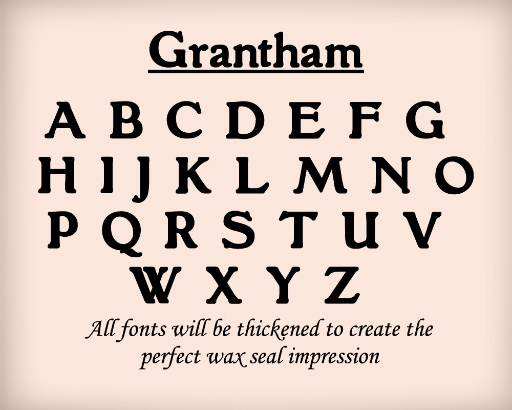 Grantham font examples