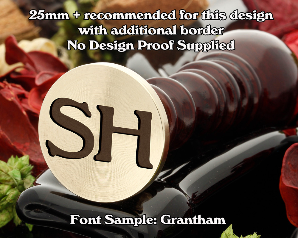 Grantham Two Initial Wax Seal example