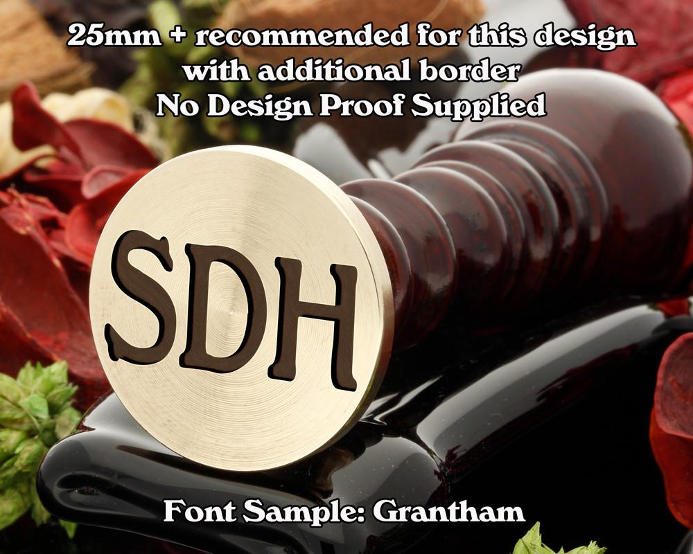 Grantham Three Initial Wax Seal Sample