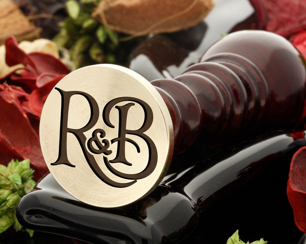 R&B Wax Seal Monogram (photo reversed)