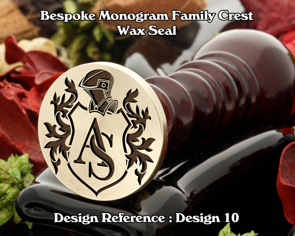 Monogram Family Crest Wax Seal D10 with no name