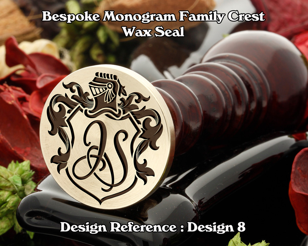 Monogram Family Crest Wax Seal D8 with no name
