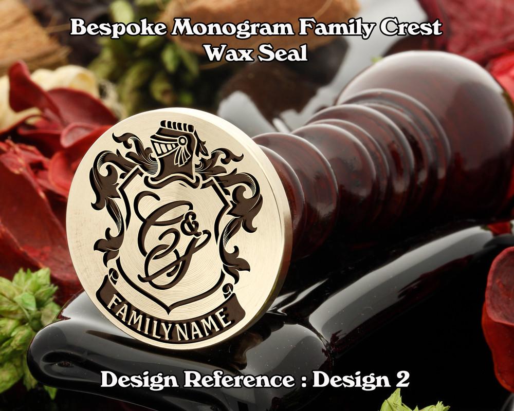 Monogram Family Crest Wax Seal D2