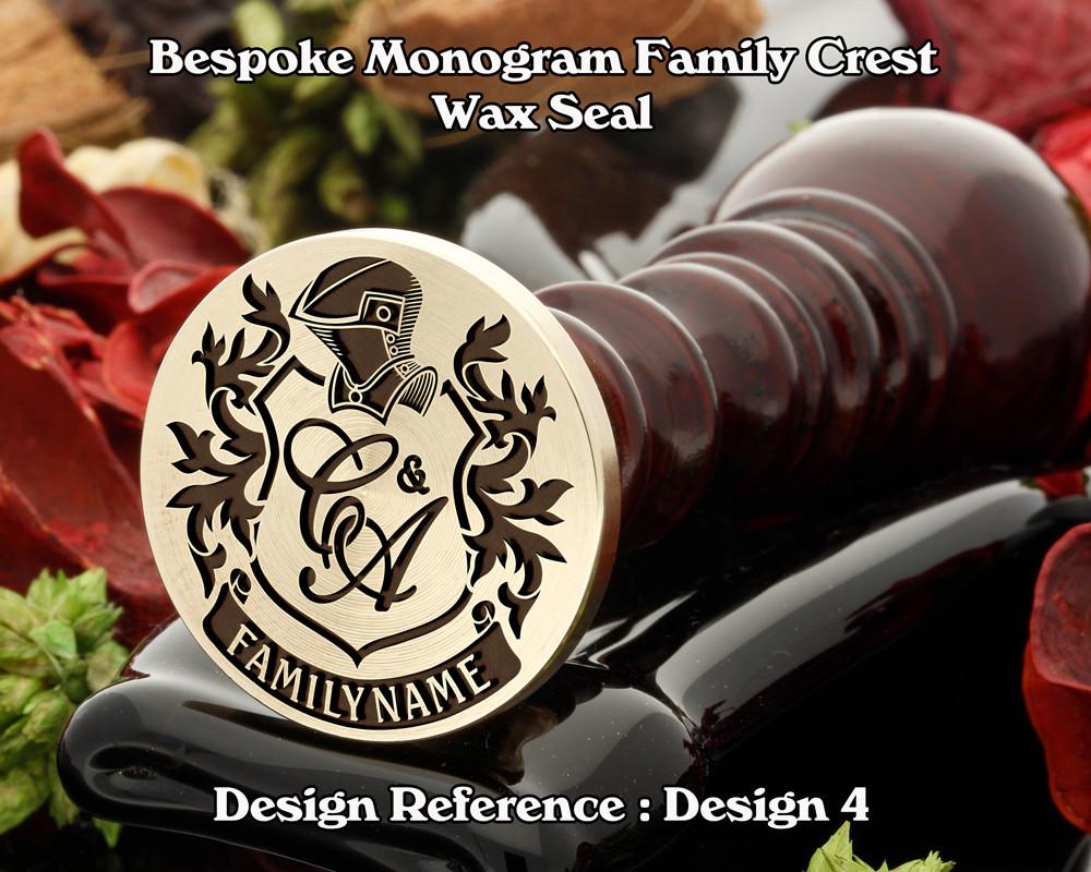 Monogram Family Crest Wax Seal D4