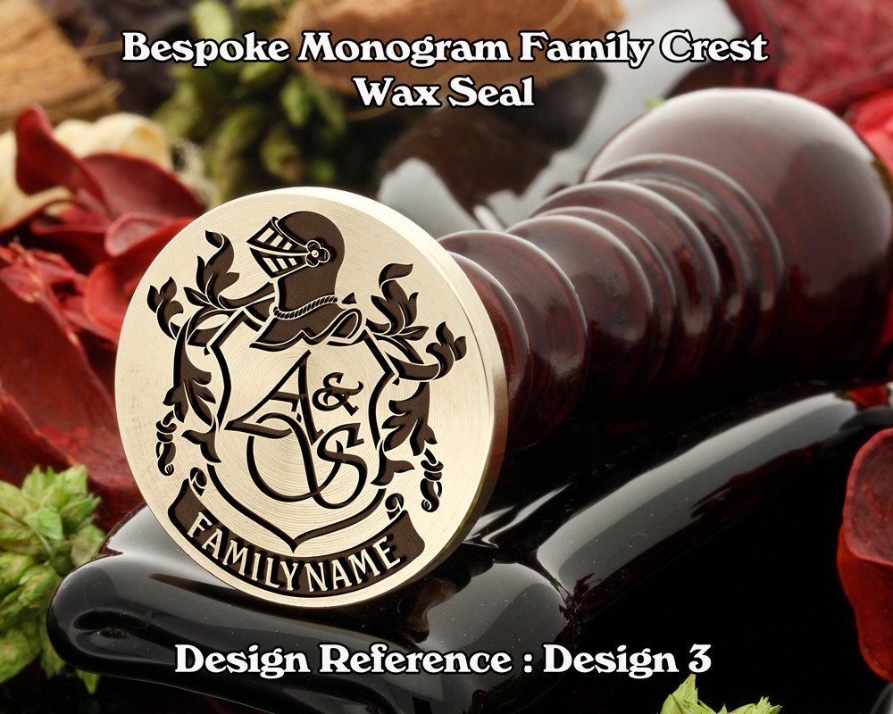 Monogram Family Crest Wax Seal D3