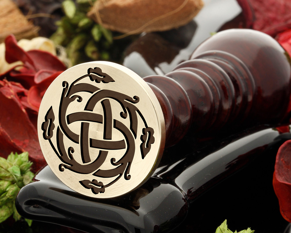 Celtic Wedding Leaves Design Wax Seal