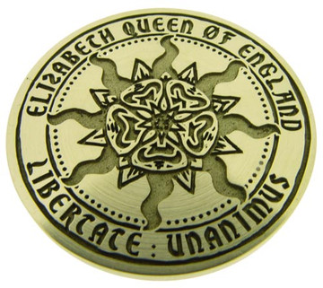 Designed for the BBC  'Elizabeth Queen of England' design (photo flipped) © The Design Station Ltd.