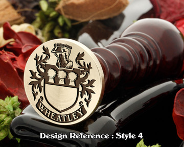 Wheatley (English) Family Crest Wax Seal D4