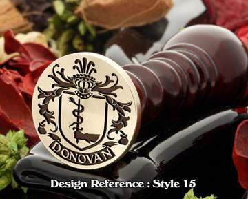 Donovan Family Crest Wax Seal D15