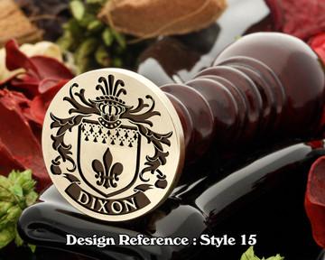 Dixon Family Crest Wax Seal D15