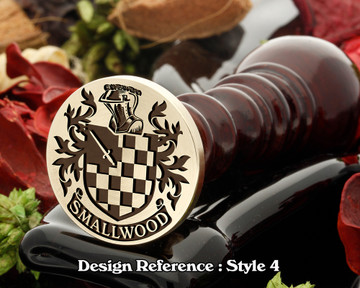 Smallwood Family Crest Wax Seal D4
