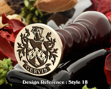 Gervis Family Crest Wax Seal D18