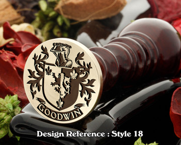 Goodwin Family Crest Wax Seal D18