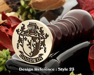 Goodwin Family Crest Wax Seal D23