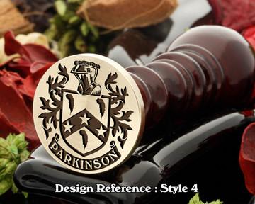 Parkinson Family Crest Wax Seal D4