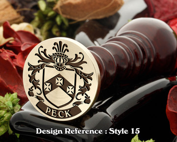 Peck Family Crest Wax Seal D15