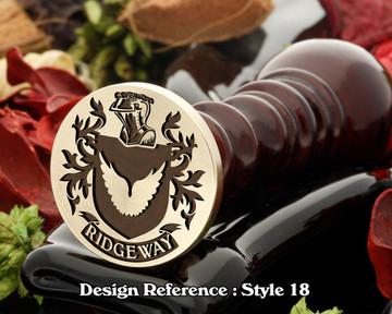 Ridgeway Family Crest Wax Seal D18