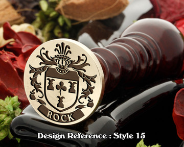 Rock Family Crest Wax Seal D15