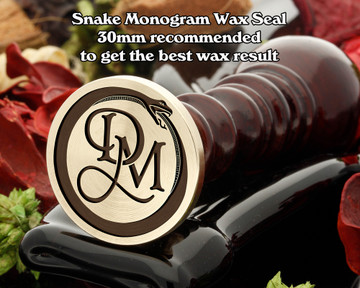 Snake Monogram Wax Seal including Initials example DM