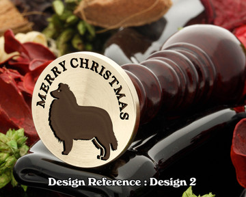 Rough Collie - Merry Christmas Wax Seal D2