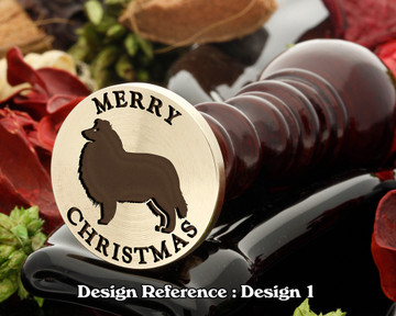 Rough Collie - Merry Christmas Wax Seal D1