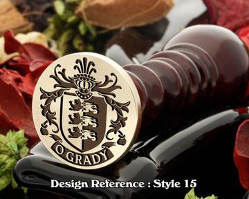 O'Grady Family Crest Wax Seal D15