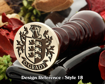 O'Grady Family Crest Wax Seal D18